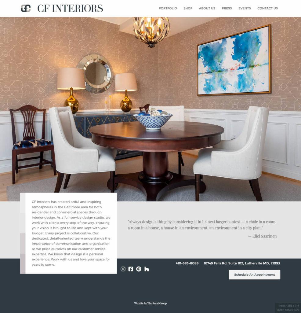 CF Interiors Website
